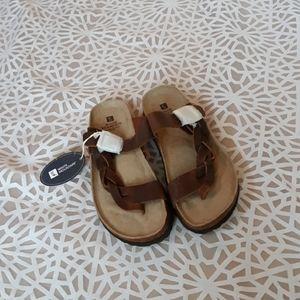 White Mountain Braided Sandals